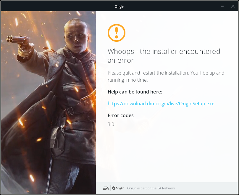 FIX: Issues installing Origin on Wine (error 3:0 and graphical glitches)